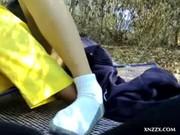 หลุดโรงเรียนบ้านนอกปูเสื่อเย็ดกันกลางป่า โคตรกล้าหนีเรียนมามีSEXกันกลางวันแสกๆๆ เลียซะของขึ้น