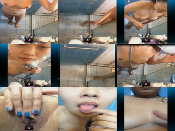 ตั้งกล้องถ่ายตัวเอง skype กับผัวเห็นหีเนียนๆเลยอาบน้ำชำระล้างหีก่อนจะนอนหีต้องสะอาดนะ