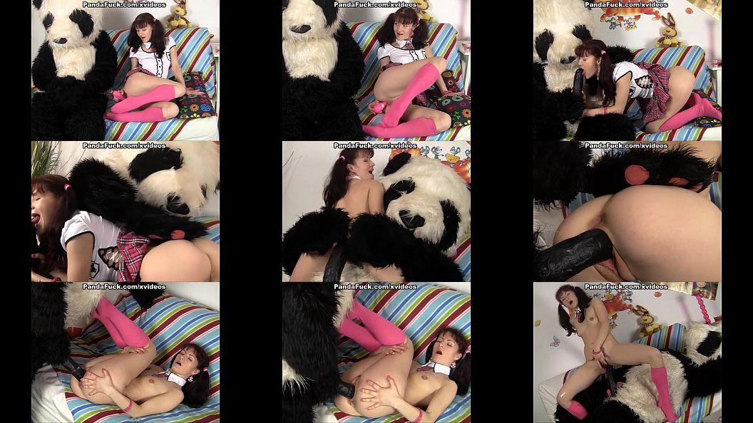หนังโป๊คนเย็ดกับหมีแพนด้า มาดูกันหมีแพนด้าควยดำปี๋เลย คนเลยจัดการอมควยให้ แตกคาปาก